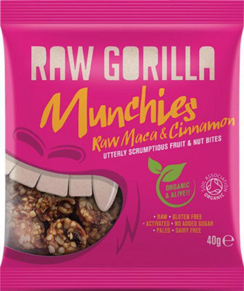 Maca & Cinnamon Munchies Gluten Free, no added salt, no added sugar, Vegan, ORGANIC