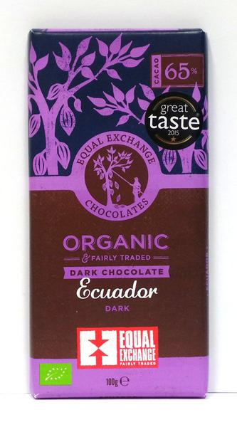 Dark Chocolate Ecuador Gluten Free, Vegan, FairTrade, ORGANIC