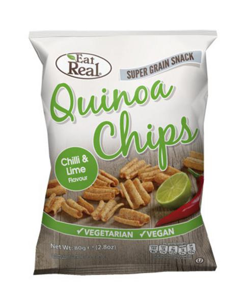 Chilli & Lime Quinoa Chips dairy free, Vegan