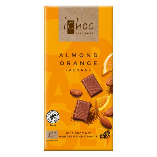 Almond & Orange Alternative to Milk Chocolate iChoc Vegan