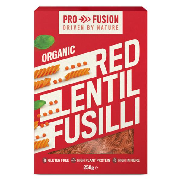 Red Lentil Fusilli Pasta Gluten Free, ORGANIC