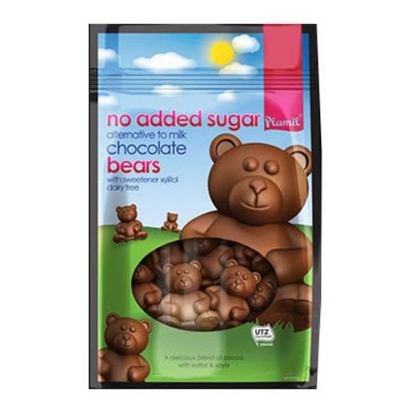Alternative to Milk Chocolate Bears Gluten Free, no added salt, no added sugar, Vegan