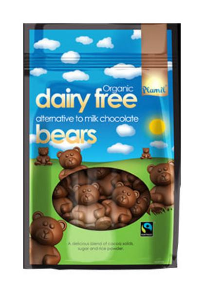 Alternative to Milk Chocolate Bears Gluten Free, Vegan, FairTrade, ORGANIC