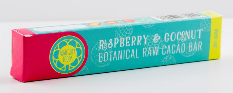 Raspberry & Coconut Raw Chocolate Bar Vegan, ORGANIC