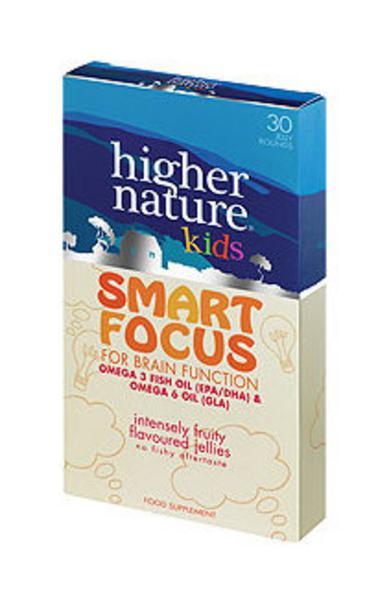 Fish Oil Kids Smart Focus dairy free, Gluten Free, sugar free, yeast free, wheat free