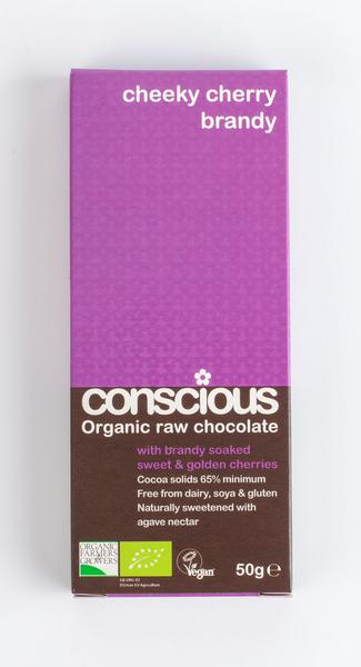 Cheeky Cherry Brandy Raw Chocolate Vegan, ORGANIC