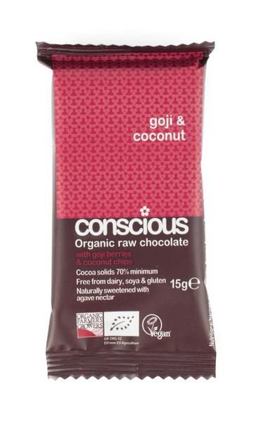 Goji & Coconut Raw Chocolate Bites Vegan, ORGANIC