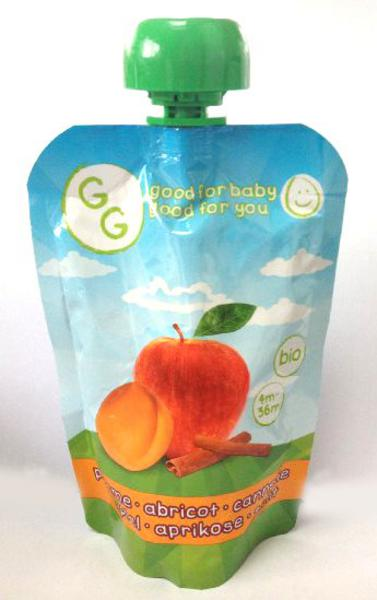 Apple,Apricot & Cinnamon Puree Baby Food Gluten Free, Vegan, ORGANIC