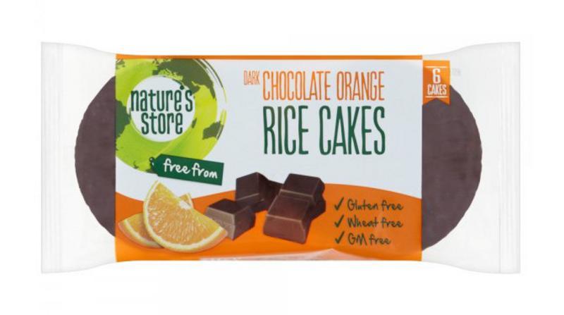 Dark Chocolate & Orange Rice Cakes Gluten Free, wheat free