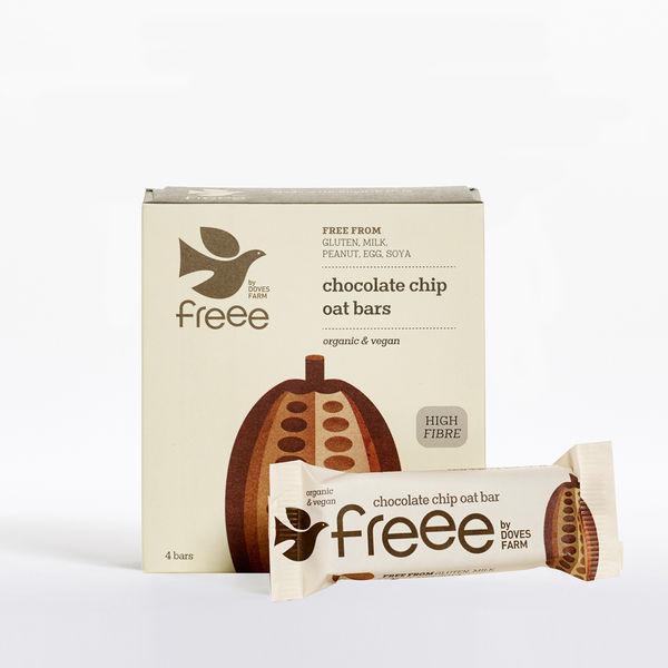 Choc Chip Free From Oat Bar dairy free, Gluten Free, Vegan, ORGANIC