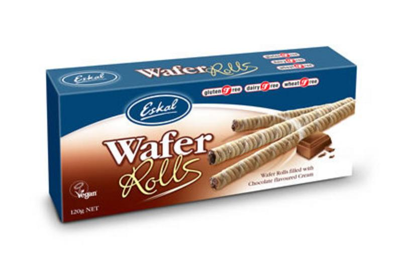 Chocolate Wafer Rolls Gluten Free, Vegan