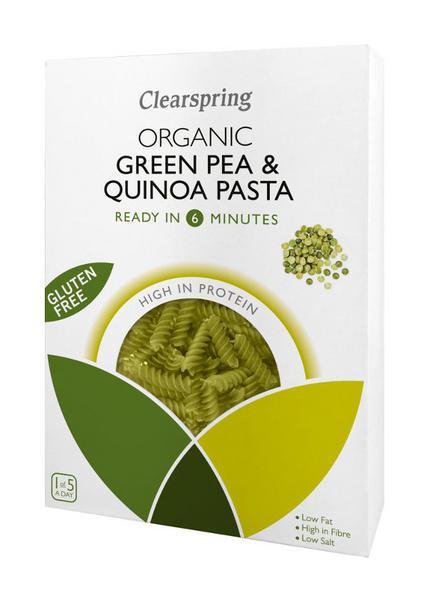 Green Pea & Quinoa Fusilli Pasta Gluten Free, ORGANIC