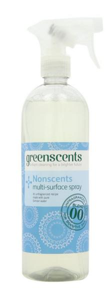 Nonscents Multi Surface Spray Cleaner Vegan, ORGANIC