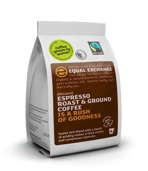Espresso Fine Grind Coffee FairTrade, ORGANIC