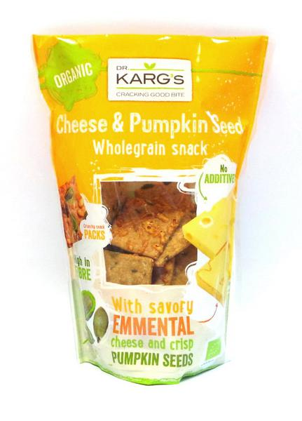 Cheese & Pumpkin Seed Wholegrain Snack ORGANIC