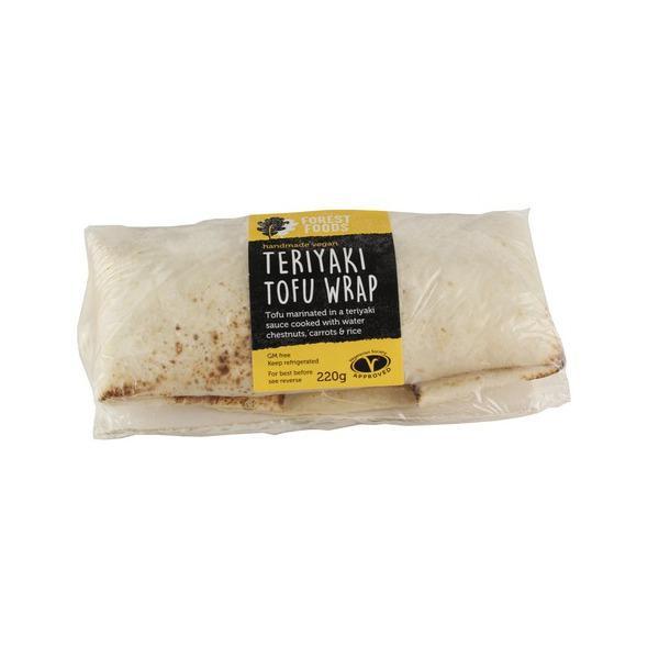 Teriyaki Tofu Wrap dairy free, Vegan