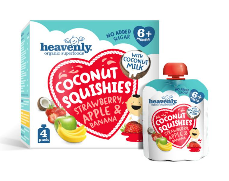 Strawberry,Apple & Banana Baby Food Squishies Vegan, ORGANIC