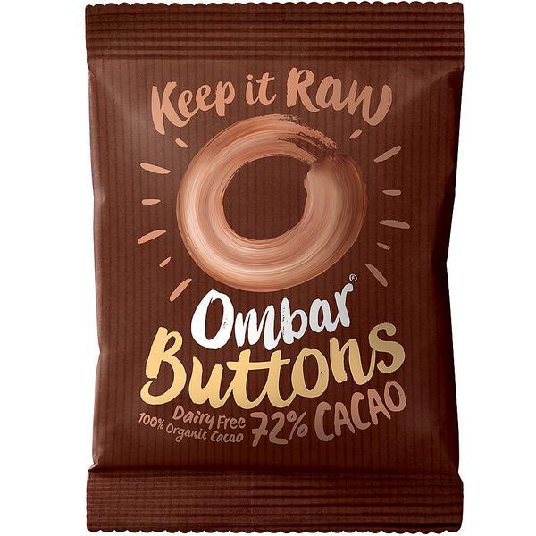 Chocolate Dark 72% Buttons dairy free, ORGANIC