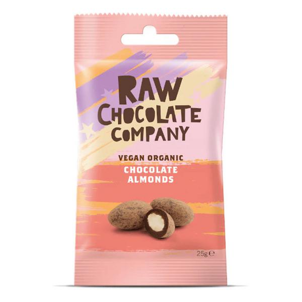 Raw Chocolate Coated Almonds Vegan, ORGANIC