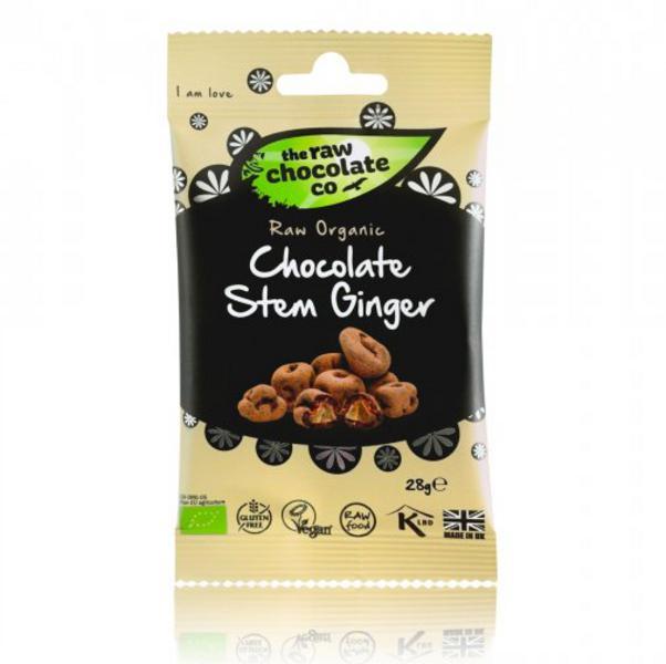 Raw Chocolate Coated Ginger Vegan, ORGANIC