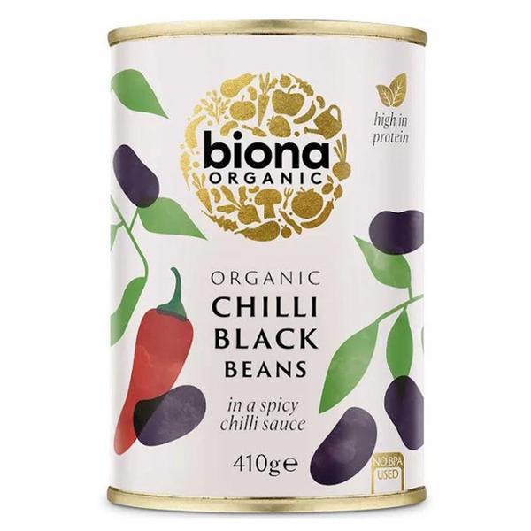Chilli Black Beans dairy free, Vegan, wheat free, ORGANIC