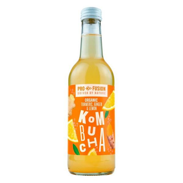 Turmeric,Ginger & Lemon Kombucha unpasteurised, ORGANIC