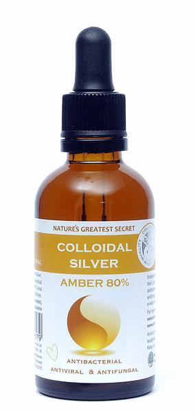 Amber Colloidal Silver 80% Dropper