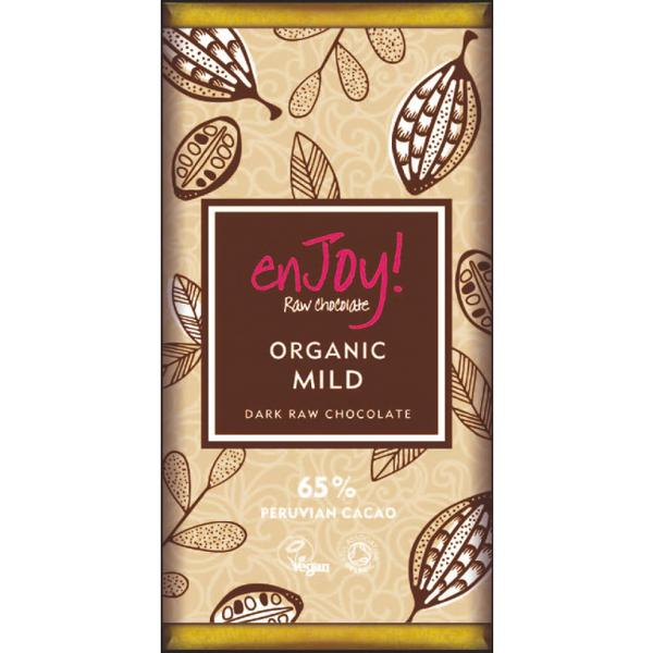Mild Raw Chocolate 65% Vegan, ORGANIC