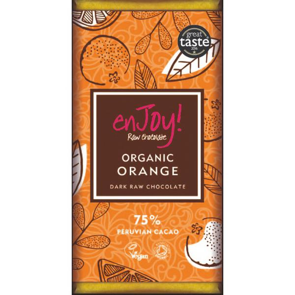 Orange Raw Chocolate Gluten Free, Vegan, ORGANIC