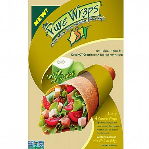 Curry Coconut Pure Wrap dairy free, Gluten Free