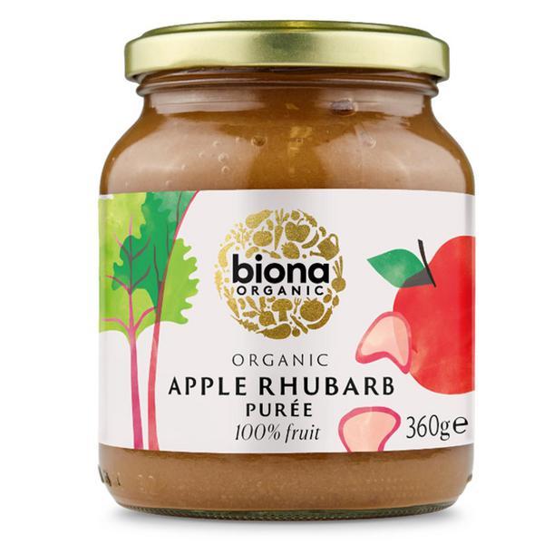 Apple & Rhubarb Puree no added sugar, ORGANIC