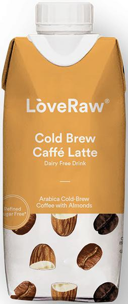 Almond Cafe Latte Drink Cold Brew dairy free, Vegan