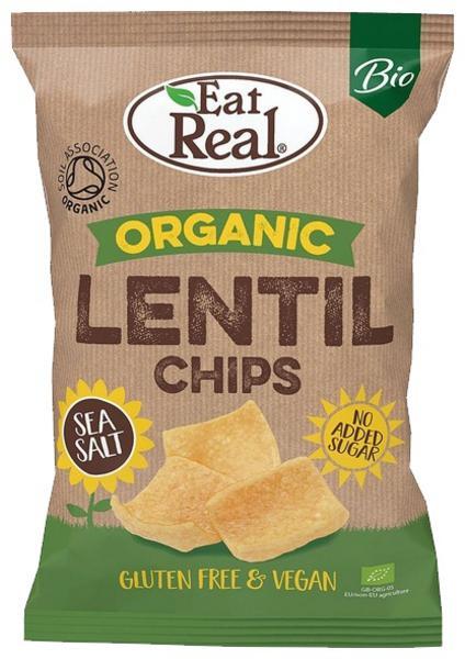 Lentil Sea Salt Chips dairy free, Gluten Free, ORGANIC