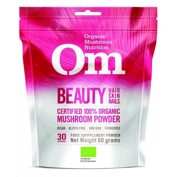 Mushroom Supplement Beauty Powder Gluten Free, Vegan, ORGANIC