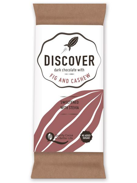 Fig & Cashew Dark Chocolate Gluten Free, no added sugar