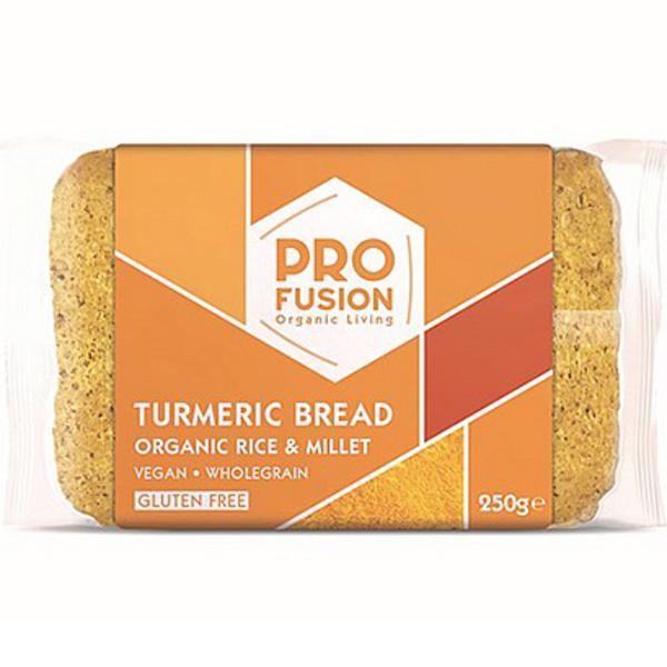 Organic Turmeric Rice And Millet Bread In 250g From Profusion