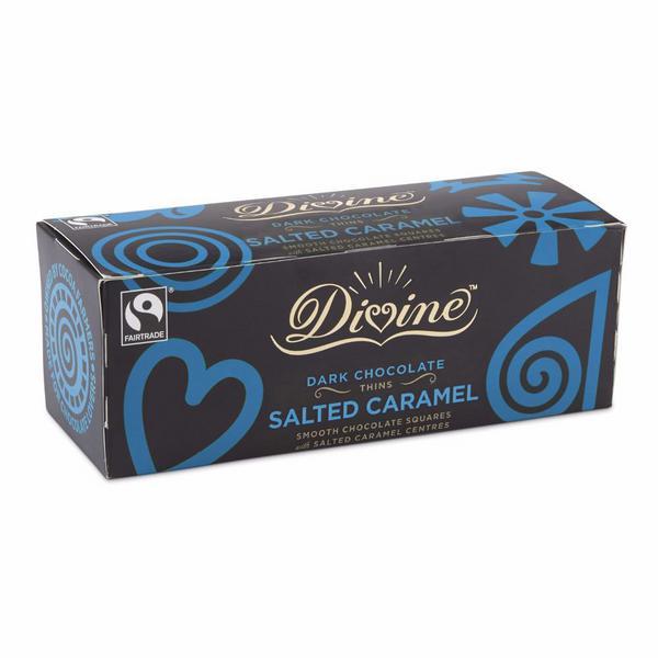 Dark Chocolate Salted Caramel Thins FairTrade