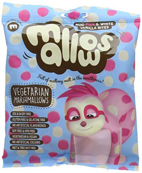 Pink & White Vanilla Flavour Marshmallows Gluten Free, Vegan