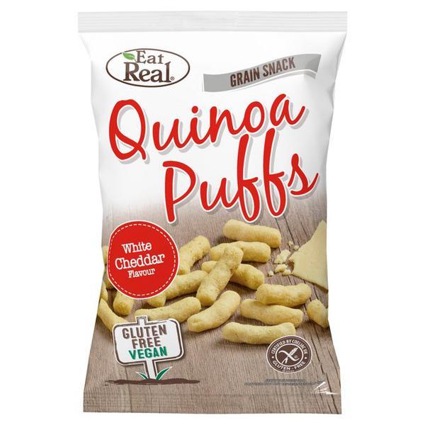 White Cheddar Quinoa Puffs Gluten Free, Vegan