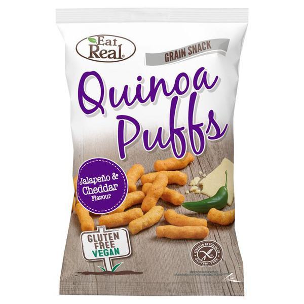 Jalapeno & Cheddar Quinoa Puffs Gluten Free, Vegan