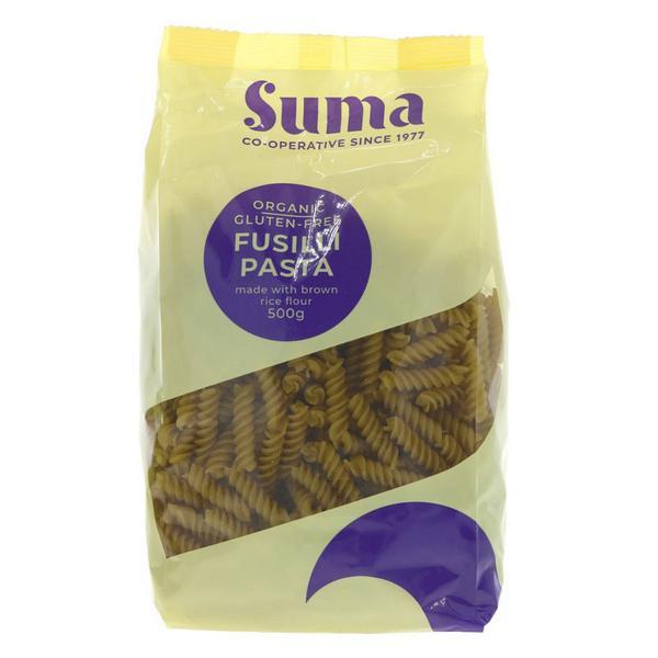 Brown Rice Fusilli Pasta Gluten Free, ORGANIC