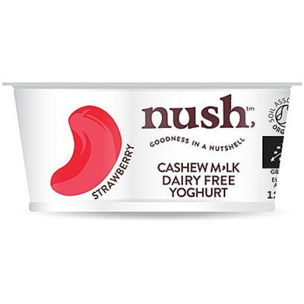 Strawberry & Cashew Milk Yoghurt dairy free, no sugar added, Vegan