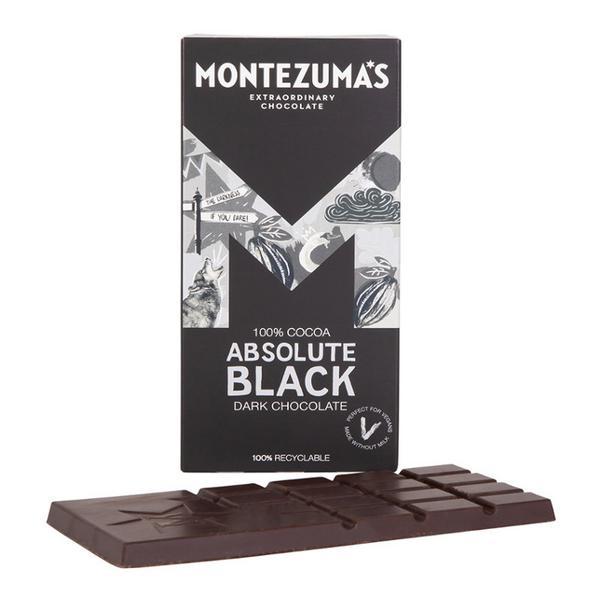 Absolute Black 100% Cocoa Bar Dark Chocolate sugar free, Vegan