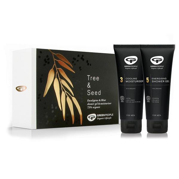 Tree & Seed Shower Gel&Moisturiser Gift Set Vegan, ORGANIC