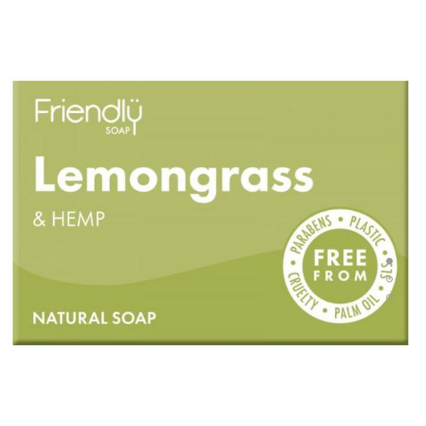 Lemongrass & Hemp Soap dairy free, Vegan