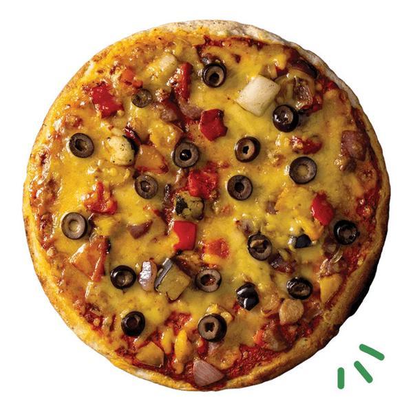 Mediterranean Roasted Vegetable Pizza Vegan