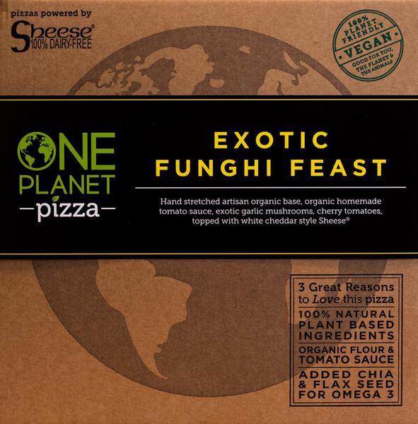 Exotic Fungi Feast Pizza Vegan