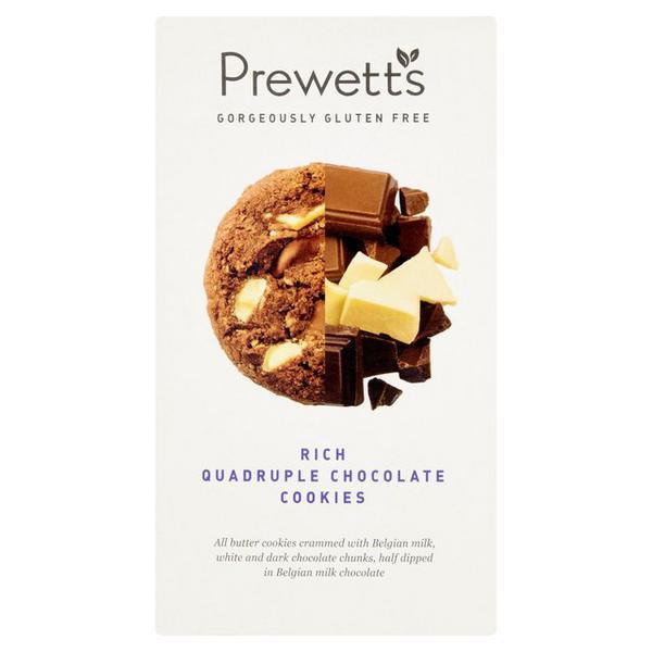 Rich Quadruple Chocolate Cookies Gluten Free