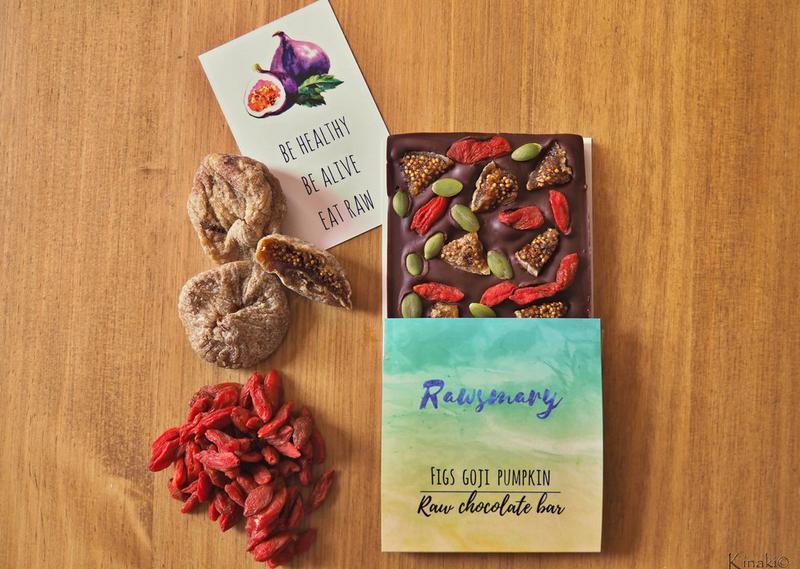 Figs,Goji & Pumpkin Raw Chocolate Vegan