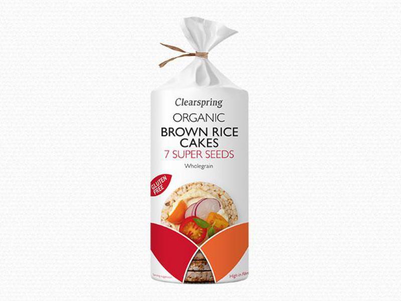 7 Super Seeds Brown Rice Cakes Gluten Free, ORGANIC